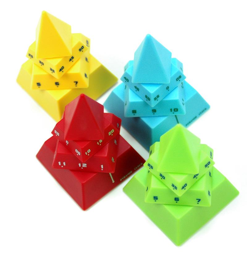突破传统时钟显示模式,empo概念设计pyramid clock简约式金字塔钟