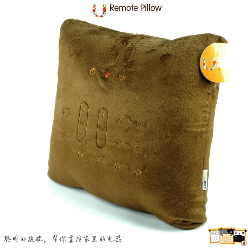 机顶盒遥控器关电视_聪明的抱枕帮你管理全家电器!U-Remote Pillow智能学习型可爱萌牛 ...