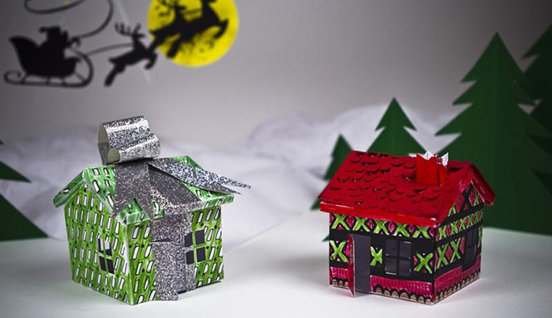 纸盒手工制作房屋